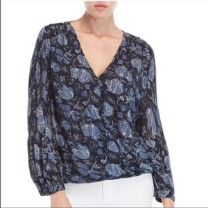 Lucky Brand | Faux Wrap Floral Long Sleeve Top